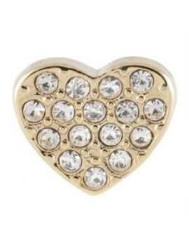 Crystal Gold Heart Charm