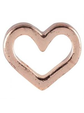 Rose Gold Heart Charm