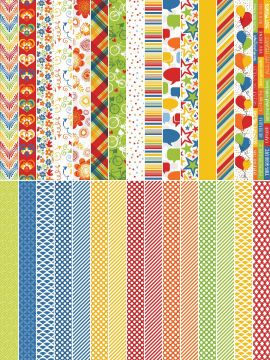 Pocket Primary Border Strips by Katie Pertiet - Set 30