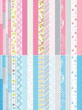 Baby Bundle by Katie Pertiet Pocket Border Strip - Set 30