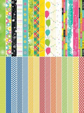 Pocket Party  by Katie Pertiet Pocket Border Strips - Set 30