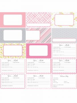 Pocket Baby Bundle Journal Cards by Katie Pertiet- Set 30