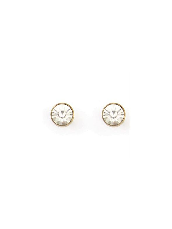 Victoria Stud Antique Brass Earrings