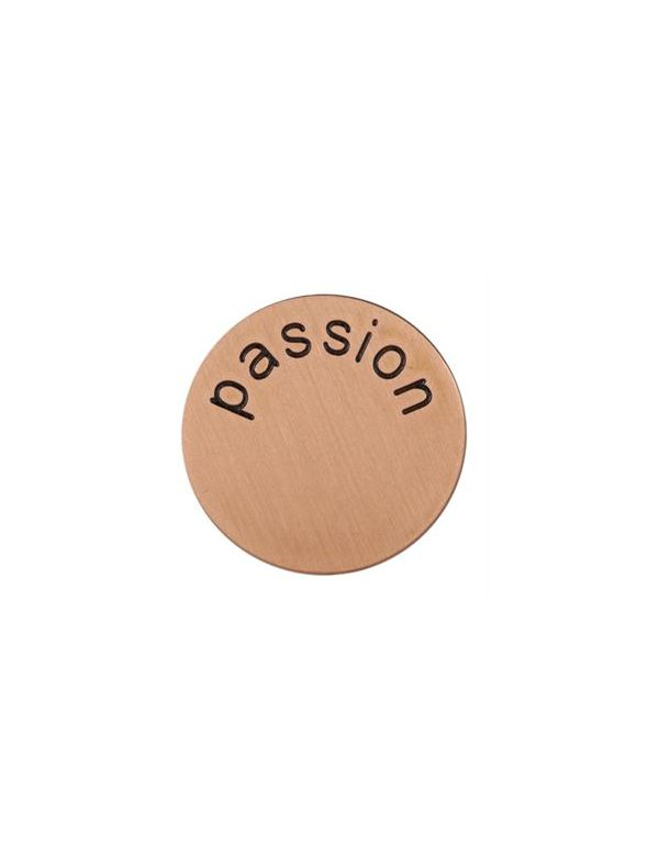 'Passion' Medium Rose Gold Coin