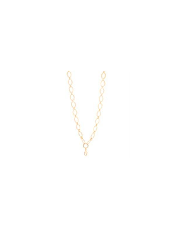 Nickel-Safe Gold Textured Oval Link Chain - 32""