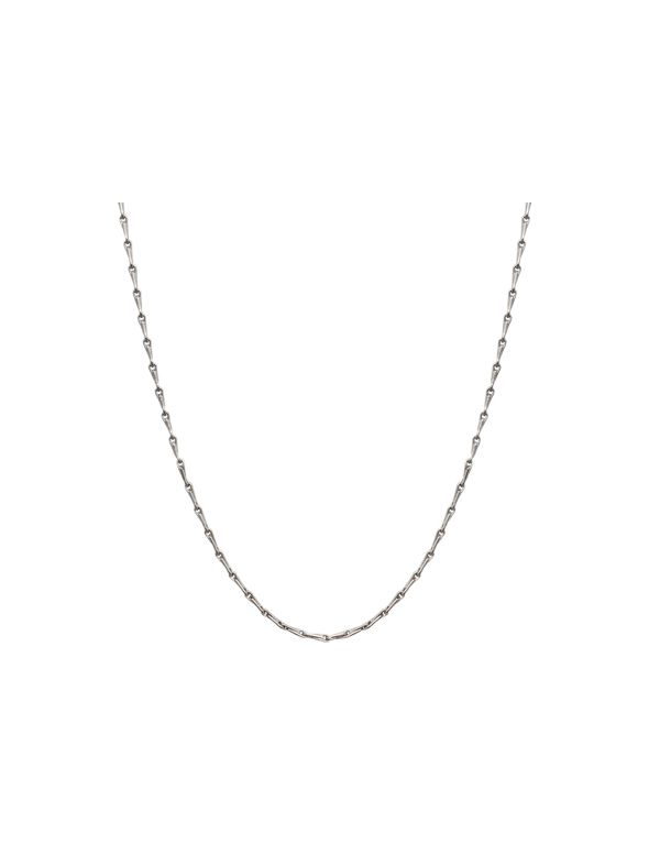 Silver Elongated Cable Chain - 28""