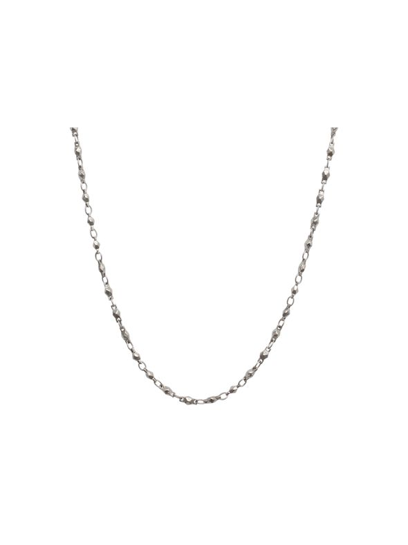 Silver Multifaceted Link Chain - 28""