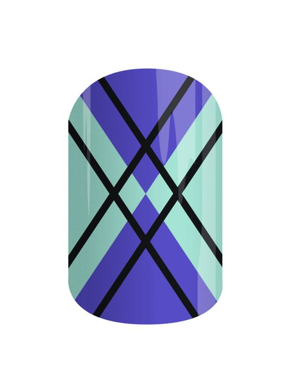 New England Argyle - Nail Wrap