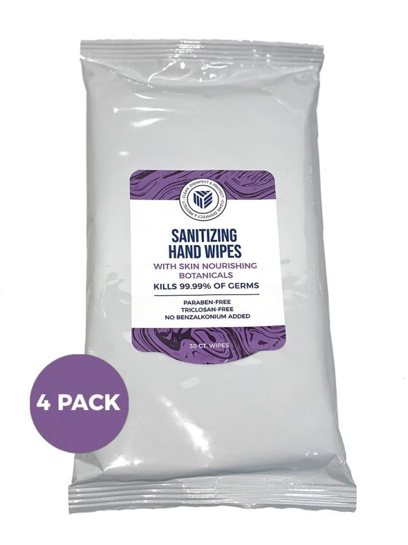 Sanitizing Hand Wipes- 30ct 4-Pack